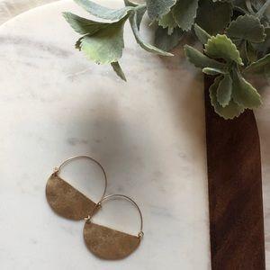 Jewelry - NWOT Semi-Circle Hoops